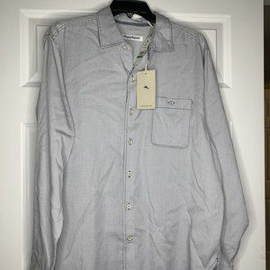 New Tommy Bahama Twilly Check Size Large LS Shirt